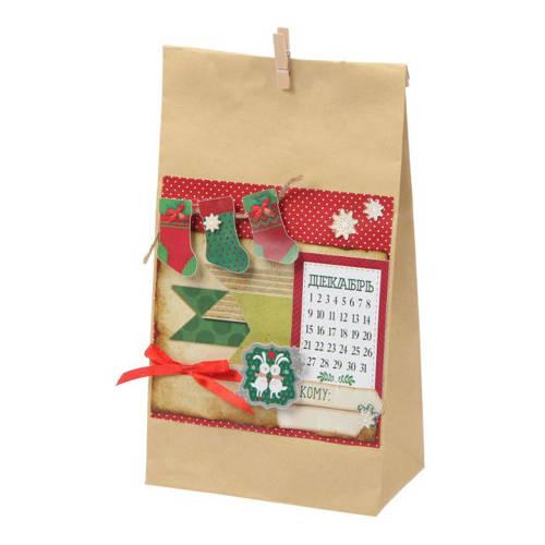 Бумажные пакеты новогодние для подарков 57