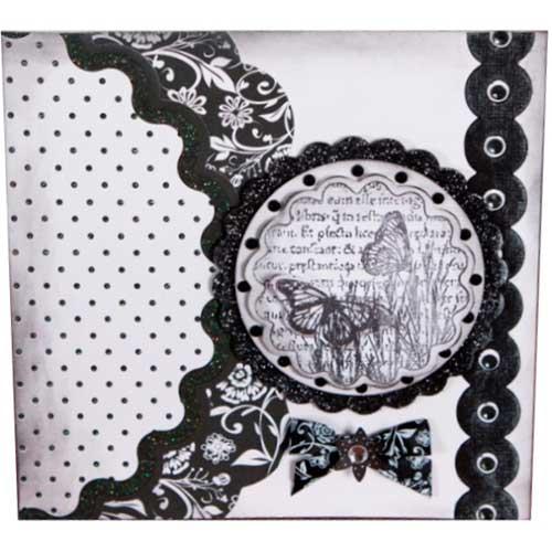 Открытка черно белая скрапбукинг 5