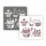 "Трафарет ""Sweet cupcake"" (Eventdesign)"