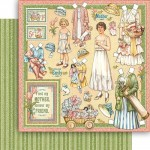 "Бумага ""Penny's Paper Doll Family. Mothers and daughters"" (Graphic 45)"
