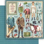 "Бумага ""Penny's Paper Doll Family. Fathers and sons"" (Graphic 45)"