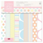 "Набор бумаги 30х30 см ""Spots & Stripes. Pastels"", 32 листа (DoCrafts)"